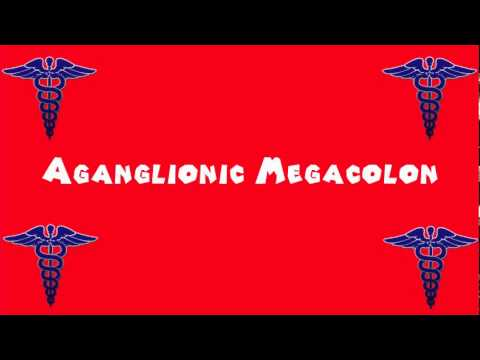 Pronounce Medical Words ― Aganglionic Megacolon