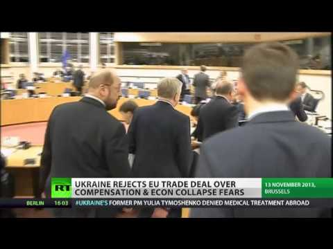 EU blackmailing Ukraine over halt in trade deal