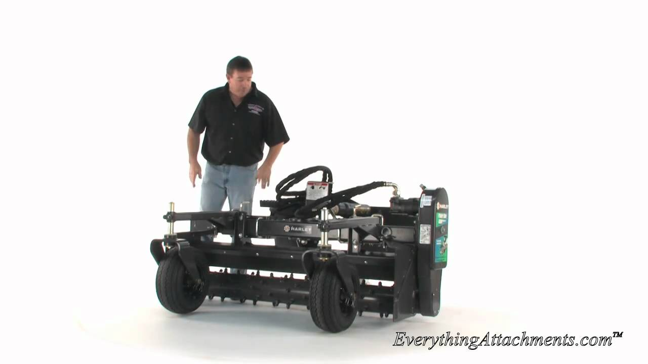 harley power box rake model m5 for skid steer youtube