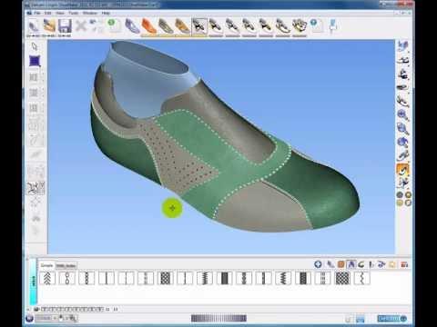 ShoeMaker Pro.wmv, Software 3D de criação de calçados Delcam Crispin Shoemaker