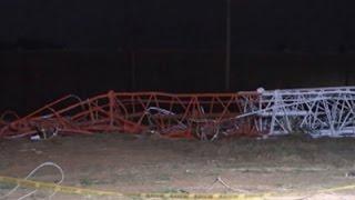 Raw: Plane Hits Lubbock, TX TV Tower