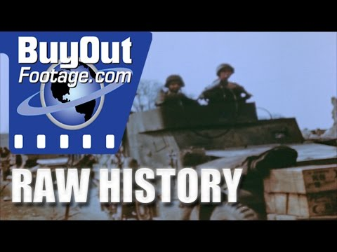 HD Historic Archival Stock Footage WWII U.S. Tanks Advance in Germany ...