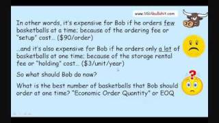 EOQ Calculation In 13 Min. How To Calculate Economic