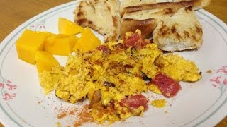 Ethiopian Eggs and Toasted bread - የእንቁላል በዳቦ አሰራር
