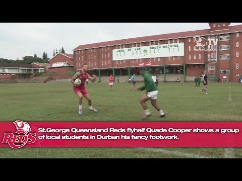 Quade Cooper's fancy footwork in Durban | Super Rugby Video - Quade Cooper's fancy footwork in Durba