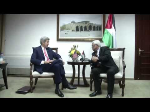 Raw: Kerry Meets With Abbas After Netanyahu