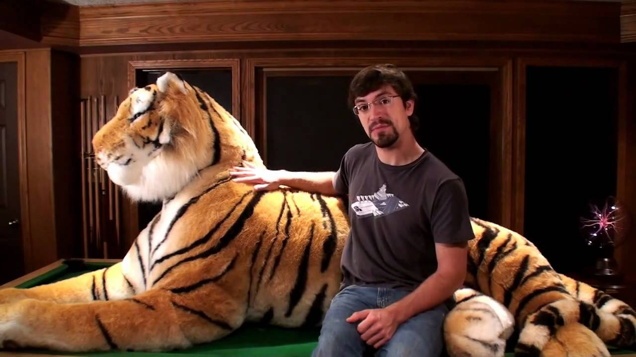 amazing life size stuffed bengal tiger 7 feet long 11 feet long with the tail youtube. Black Bedroom Furniture Sets. Home Design Ideas