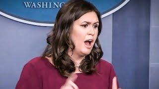 Sarah Huckabee Sanders SNAPS At CNN's Jim Acosta During Press Briefing