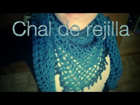 Chal de red, en ganchillo (ideal para principiantes).