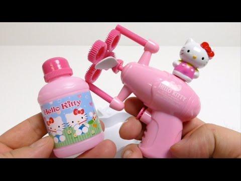 Hello Kitty Bubble Machine Gun Fun Toy