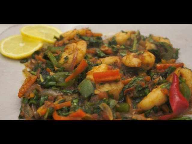 Ginisang Dahon ng Gabe at Hipon recipe Pinoy shrimp Filipino Tagalog