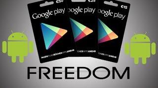 [Freedom] Tarjetas GRATIS Para Hacer Compras Por La Google