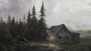 Paint With Kevin Hill Evening Cabin