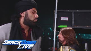 Jinder Mahal vows to come after WWE Champion AJ Styles: SmackDown LIVE, Nov. 14, 2017