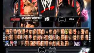 PCSX2 0.9.7 WWE SMACKDOWN VS RAW 2011 PS2 ALL CHARACTERS