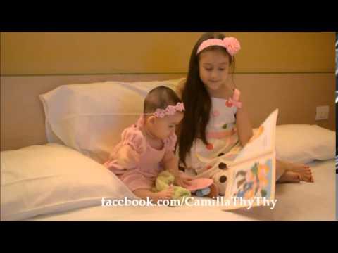Camilla ThyThy hát và đọc truyện cho em gái nghe