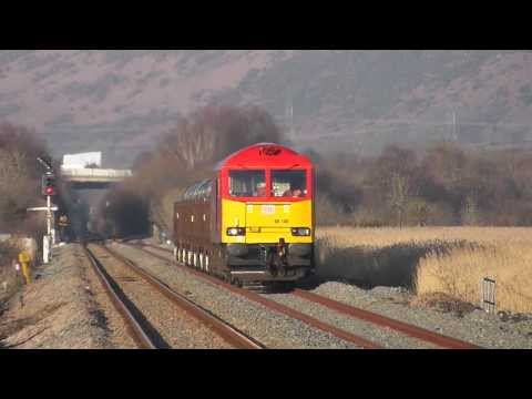 60100 through Llangennech on the 6B48 Margam Trostre Steel train 11/03/2014