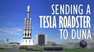 Sending a Tesla Roadster to Duna (Fully Stock and Reusable) - KSP