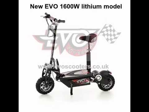 NEW MODEL! 1600W Lithium Electric Scooter by EVO Powerboards