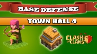 Clash Of Clans BEST Base Defense Town Hall 4