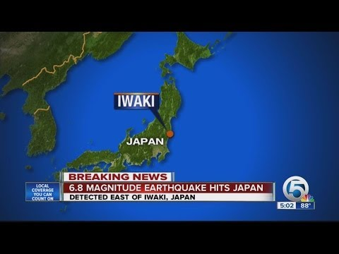 6.8 Magnitute earthquake hits Japan