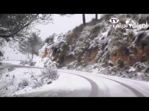 الفيديو.. الثلوج تكسو جبل غورغو ببني أنصار بعد سنوات من الغياب
