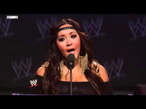 "WWE WrestleMania XXVII Press Conference: Nicole ""Snooki"" Polizzi"