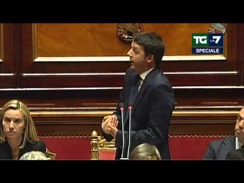 Fiducia al Senato - Il discorso di Matteo Renzi (24/02/2014)
