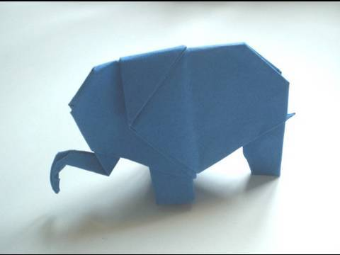 origami elephant youtube. Black Bedroom Furniture Sets. Home Design Ideas
