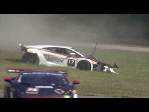 Lamborghini Big Crash @ 2013 ALMS Virginia