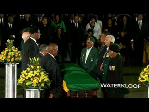 Nelson Mandela's send off at The Waterkloof Airforce Base in Pretoria