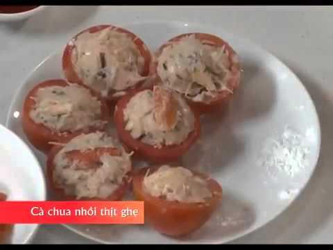 Hướng dẫn nấu món ngon -  Cà chua nhồi thịt ghẹ - Món ngon mỗi ngày
