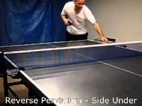 Table tennis serve - Reverse Pendulum, side-under (slow motion)