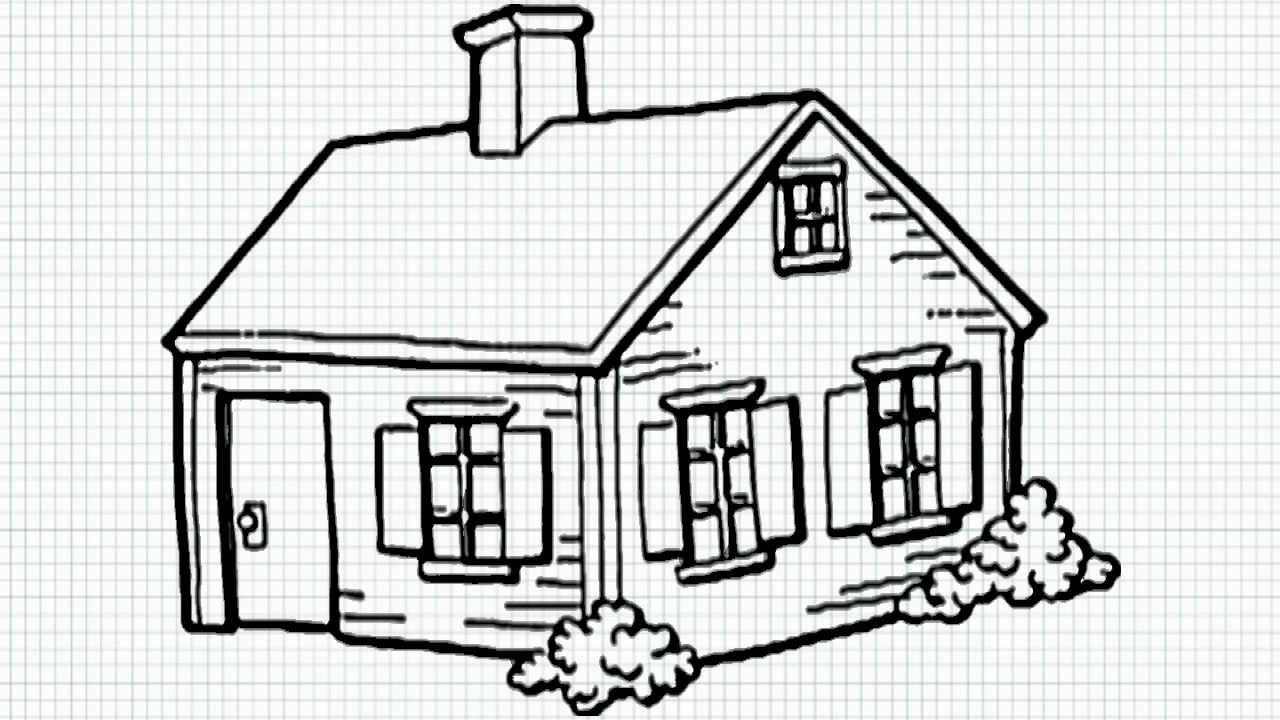 How to draw a house for kids youtube Draw your house