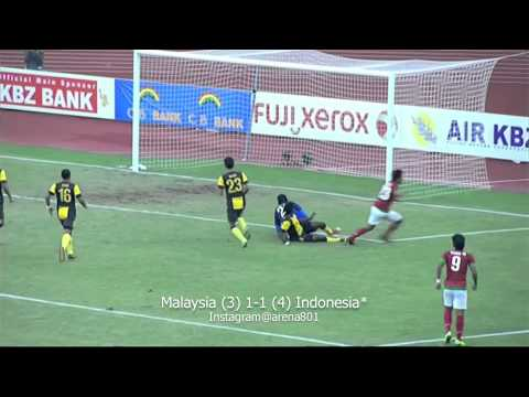 SEA Games 2013: Semi Final - Malaysia (3) 1-1 (4) Indonesia