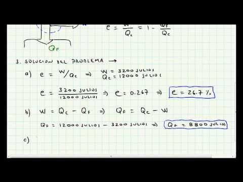 Problema Aplicación Segunda Ley de la Termodinámica - Maquinas de Calor - Video 017