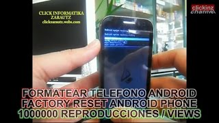 FACTORY RESET, RESETEAR, FORMATEAR MOVIL ANDROID CHINO