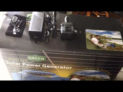 Emergency Power - Concept Green Solar Generator Vs. Harbor Freight 45 Watt Solar Kit