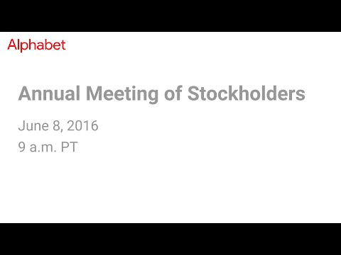 2016 Annual Meeting Of Stockholders