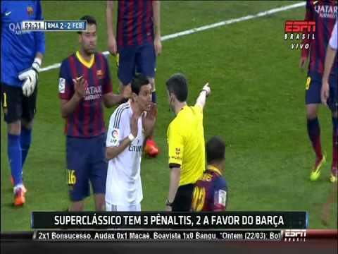Penalty a Cristiano Ronaldo Clasico en el Bernabéu 23 03 2014