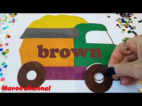 Colored Applique Funny Truck Video for Kids