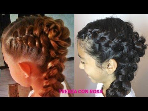 TRENZA CON ROSA|Trenza Cabello Largo| Peinados Faciles,Sencillos,Elegantes