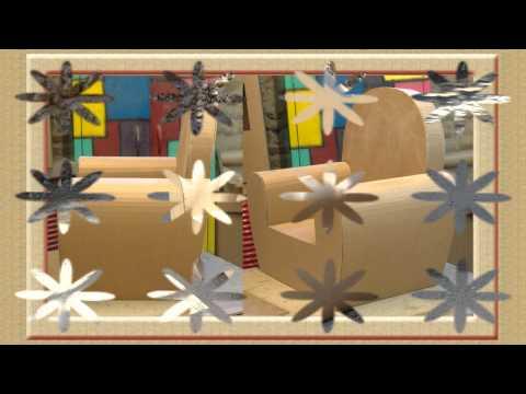 25 Fauteuils en carton brut, Meuble en carton - Fauteuil: 25 différents fauteuils en carton brut, réalisés avec les méthodes Schmulb, durant les stages et formations à l'atelier. http://...