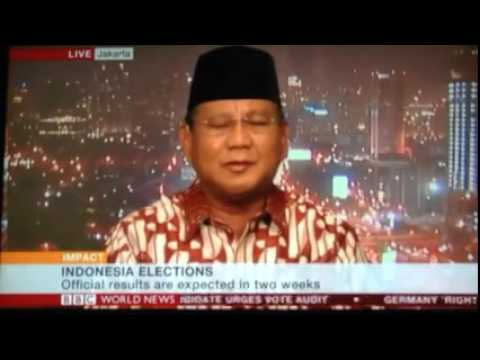 Prabowo Subianto on BBC World News Impact
