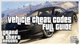 GTA 5 CHEATS ALL Vehicle Spawn Cheat Codes (Grand Theft