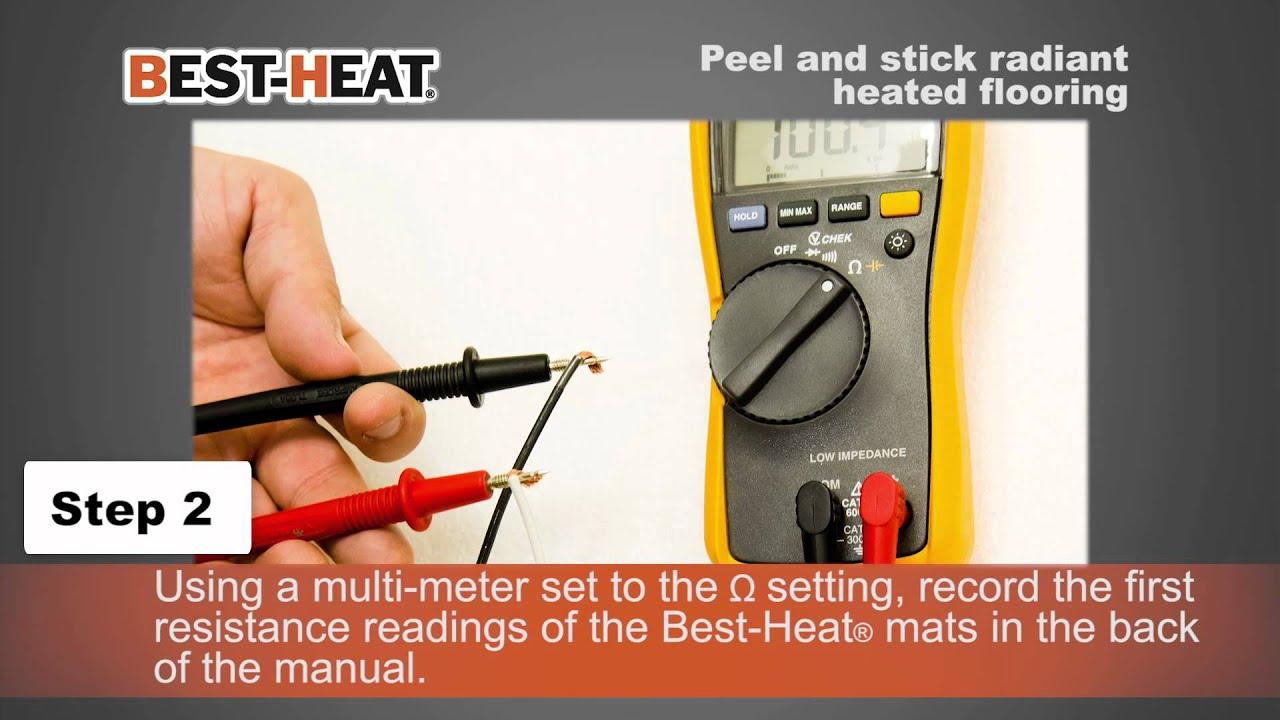 Best Heat Peel Stick Tile Floor Heating System Youtube
