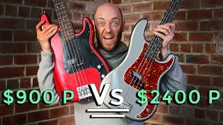 $900 P Bass Vs $2400 P Bass - Precision Bass Shootout
