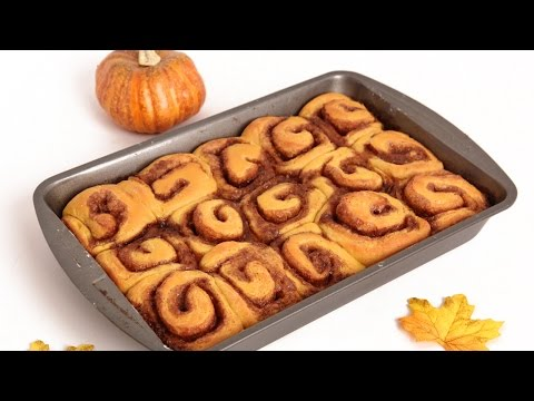 Pumpkin Pie Cinnamon Rolls Recipe - Laura Vitale - Laura in the Kitchen Episode 832