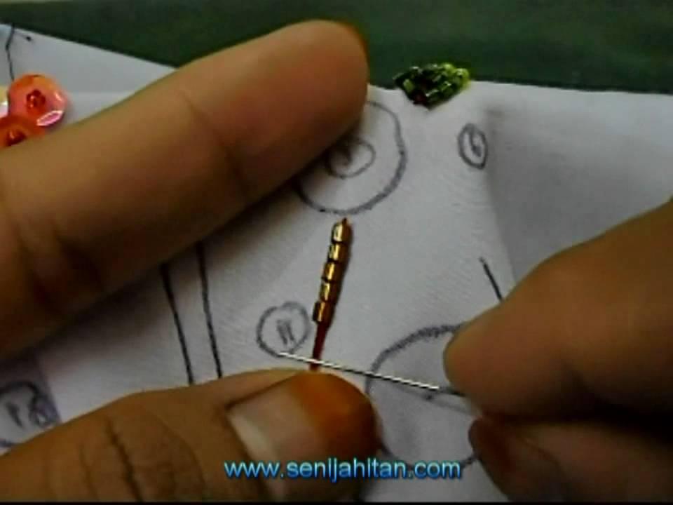 Video Tutorial Teknik Asas Sulaman Manik Dan Labuci - YouTube