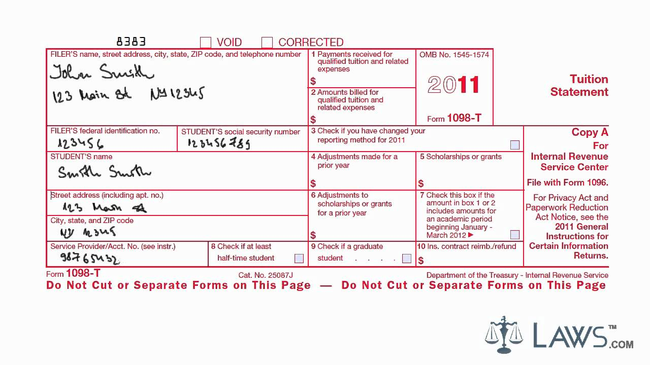 form 1098 t instructions